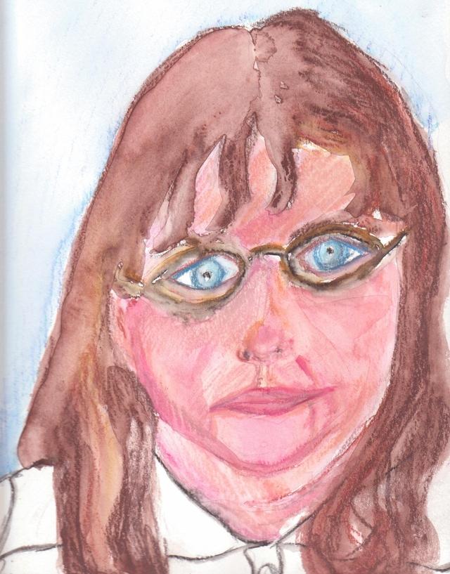 demi sourire aux lunettes : autoportrait demi-sourire-aux-lunettes-autoportrait.jpg